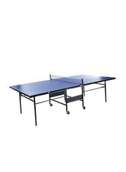 TA Sport Super Max Folding Table Tennis Table, Blue/Silver
