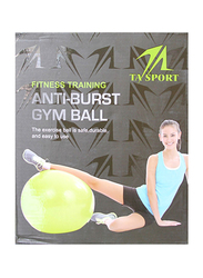 Anti-Resistant Gym Ball Without Pump, Grey