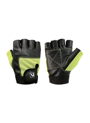 LiveUp Combat Sports Boxing Training Gloves, Extra Large, Black/Green