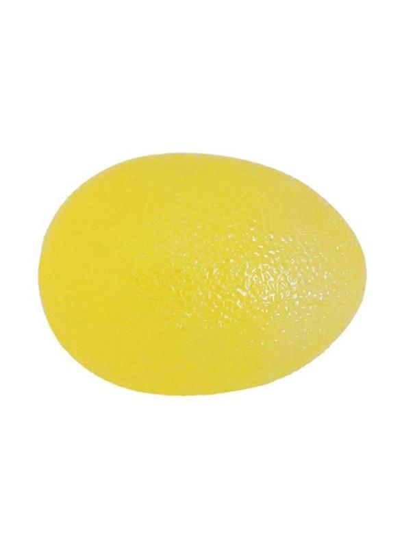 TA Sport Egg Shaped Hand Exercise Ball, Yellow