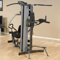 Body Solid FKR Fusion Vertical Knee-Raise and Dip Station, White/Black