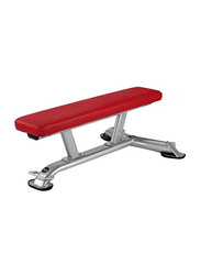 Bh Fitness Flat Training Bench, 116cm, Silver/Red