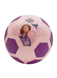 Joerex Sophia Princess Printed Football Ball, Size 5, Beige/Purple