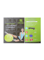 Anti-Resistant Exercise Gym Ball without Pump, 75cm, 24010079-101, Green