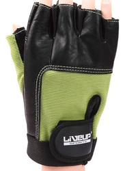 LiveUp Training Glove, Small/Medium, Black/Green