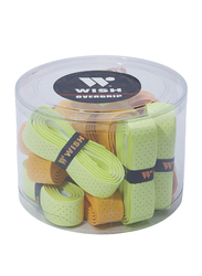 Wish Overgrip Set for Rackets, 20 Piece, Green/Yellow