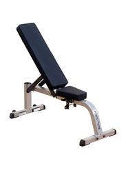 Body Solid Flat And Incline Bench Set, Silver/Black