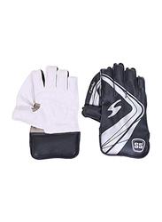Sareen Sports Cricket Academy Wicket Keeping Gloves, White/Black