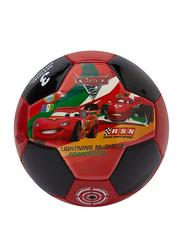 Joerex Size-3 Disney Pixar Cars 2 Printed Football, Red/Black
