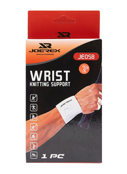 Mesuca Knitted Wrist Support, Large, White