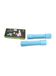 TA Sport Soft Dumbbells, 2 x 1.5KG, Blue