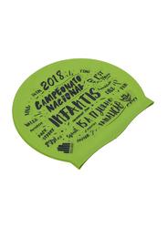 TA Sport Printed Swimming Cap, Green
