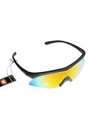 Sareen Sports Prime Polarized Half-Rim Sport Glasses for Men, Rainbow Lens, 21010018-101