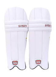 Sareen Sports Cricket Club Wicket Keeping Pads, White