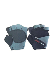 York Fitness Neoprene Workout Gloves, Medium, Blue/Black