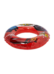 Joerex Cars Printed Swimming Ring Floaters, 70cm, Red/Blue/Yellow