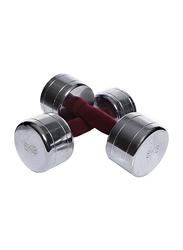 TA Sport Set Of 2 Tufted Handle Dumbbells Set, 2 x 8KG, Red