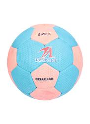 TA Sport Cellular Volleyball Ball, Size 3, Blue/Pink