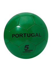 Joerex Portugal Flag Printed Football, Size 5, Green/Red