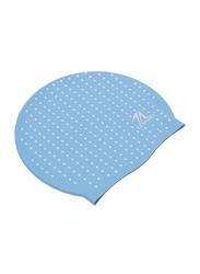 TA Sport Silicone Swimming Cap, Sky Blue/White