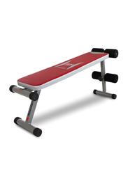 BH Fitness G59X Atlanta 300 Flat Bench, Red/Grey