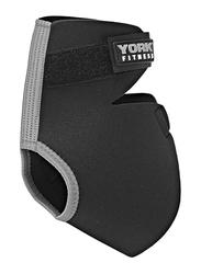 York Fitness Adjustable Ankle Support Sleeves, 3mm, Black/White