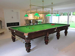 TA Sports XD18103 Victorian Steel Snooker Table Board with Green Table Cloth, Multicolour