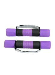 I Care Dumbbell Set, 2 x 2.5LB, Purple