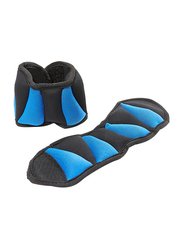 York Fitness Ankle Weight Set, 2 Pieces, Black/Blue
