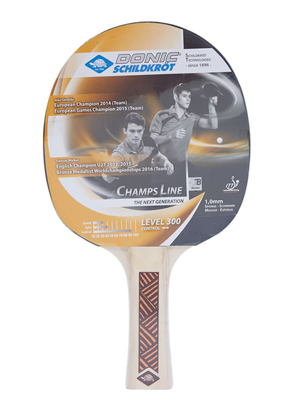 Donic Young Champ 300 Table Tennis Bat, Multicolour