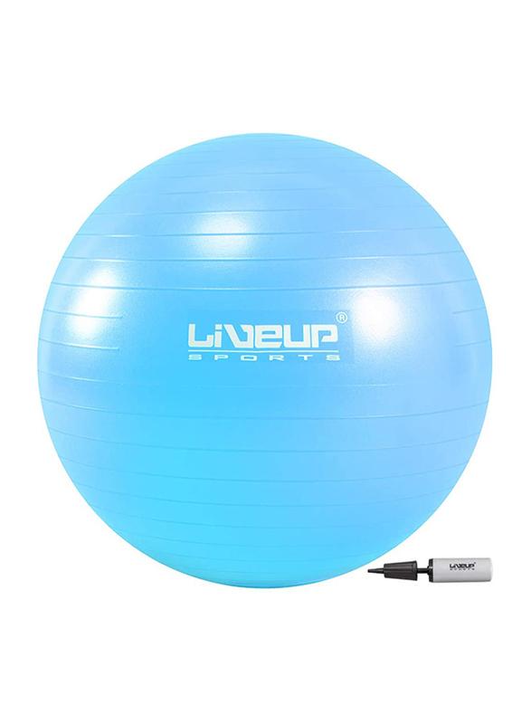 LiveUp Anti Burst Gym Ball, 55cm, Blue