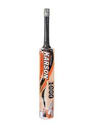 Karson Super Shot 1000 Global Cricket Bat, Orange/Black/Brown