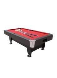 TA Sport 8-Feet Non K/D Cloth Billiard, HBT181D91S1, Red/Blue