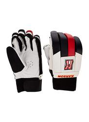 Karson Cricket Batting Gloves, Black/White