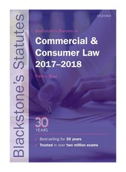 Blackstone's Statutes on Commercial and Consumer Law 2017-2018 26th Edition, Paperback Book, By: Francis Rose