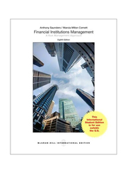Financial Institutions Management: A Risk Management Approach: International Edition (8th Edition), Paperback Book, By: Anthony Saunders and Marcia Millon Cornett