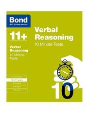 Bond 11+ Verbal Reasoning 10 Minute Tests, Paperback Book, By: Frances Down