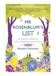 Mr. Rosenblums List: Or Friendly Guidance For The Aspiring Englishman, Paperback Book, By: Natasha Solomons