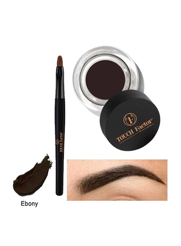 Touch Factor Eyebrow Gel, Ebony, Brown