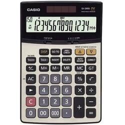 Casio 14-Digit DJ 240D Financial and Business Calculator, Black