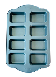 Wisteria 8 Cups Non-Stick (50c) Mini Loaf Pan, Blue