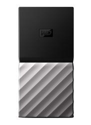 Western Digital 512GB SSD My Passport External Portable Storage Hard Drive, USB 3.1, WDBKVX5120PSL-WESN, Black/Gray