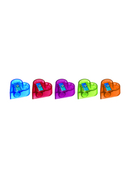 Nataraj 20-Piece Neon Heart Sharpener in Jar, Multicolour