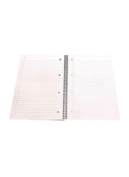 Navneet Spiral Soft Cover Notebook, 80 Sheets, A4 Size, White/Blue