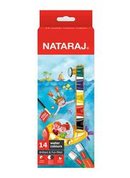 Nataraj Water Colour Tube, 14 x 5ml, Multicolour