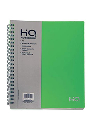 Navneet HQ Poly Wiro Notebook, 80 Sheets, A5 Size, Green