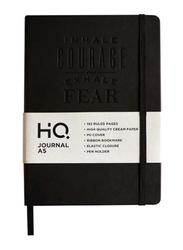 Navneet HQ PU Casebound Journal, 96 Sheets, A5 Size, Black