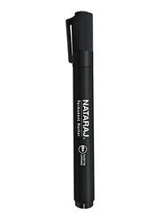 Nataraj 12-Piece Bullet Tip Permanent Marker, 2mm, Black