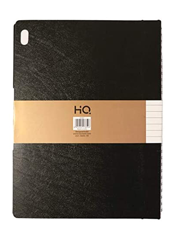 Navneet HQ Wiro Poly 1 Subject Executive Notebook, 80 Sheets, B5 Size, Black