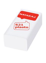 Nataraj 20-Piece 621 Plasto Eraser, White